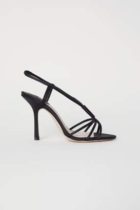 H&M Satin Sandals - Black