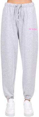 Natasha Zinko Logo Detail Cotton Jersey Sweatpants