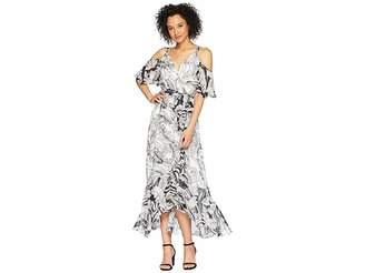 Sangria Cold Shoulder Maxi Surplus Front Dress Women's Dress