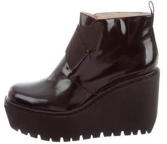 Opening Ceremony Patent Leather Platform Ankle Boots