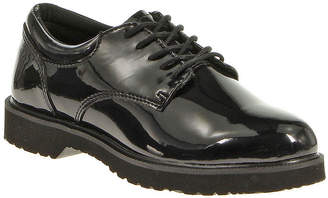 Bates Footwear Hi Gloss Womens Patent Leather Duty Oxfords - Wide Width
