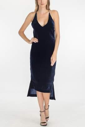 Olivaceous Velvet Slip Dress