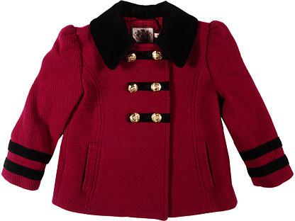 Juicy Couture Military Peacoat (Toddler/Little Kids)