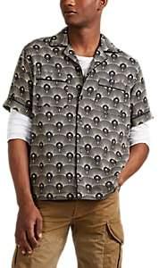 Saturdays NYC Men's Fan-Print Twill Camp Shirt - Gold