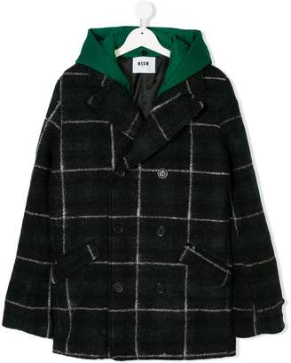 MSGM (エムエスジーエム) - Msgm Kids check hooded coat