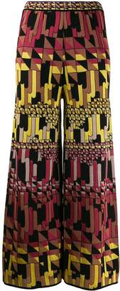M Missoni patterned palazzo trousers