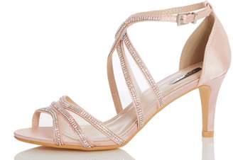 c36597a48 Next Womens Quiz Satin Diamanté Strappy Low Heel Sandal