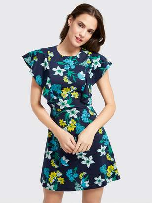 Draper James Elliston Floral Ruffle Knit Dress