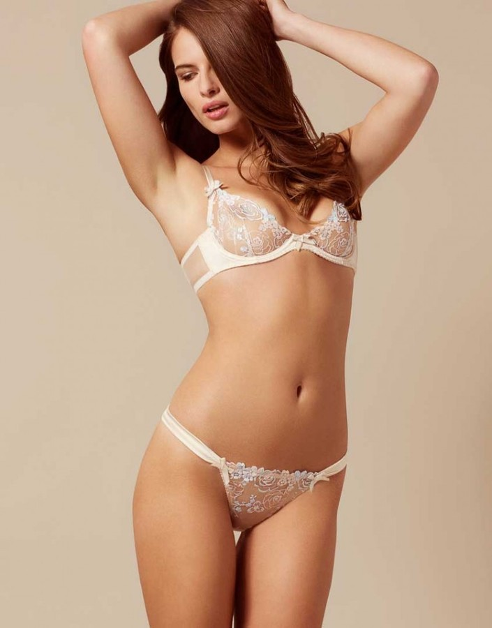 Agent Provocateur Odette Thong Peach And Pastel