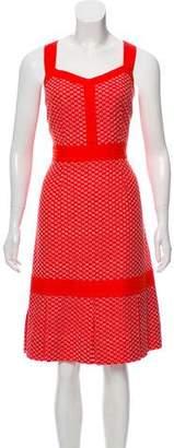 Tory Burch Embroidered Midi Dress