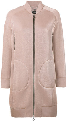 Twin-Set long bomber jacket $315.87 thestylecure.com