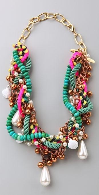 Dannijo Zuza Mixed Materials Necklace