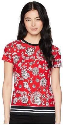 Lauren Ralph Lauren Petite Linen-Blend-Jersey T-Shirt Women's T Shirt