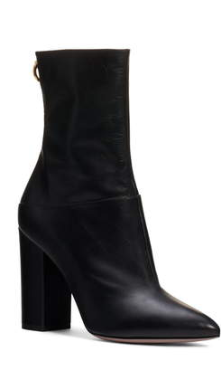 Valentino Ringstud Pointed Toe Bootie