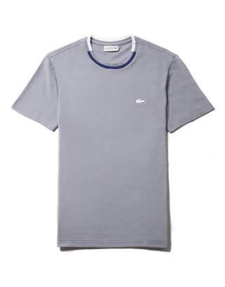 Lacoste Men's Striped Contrasted Crew Neck Petit Pique T-shirt
