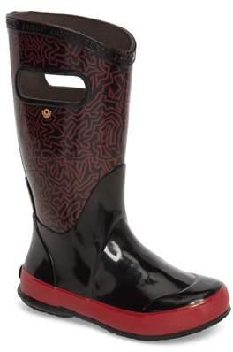 Bogs Skipper Maze Print Rubber Rain Boot