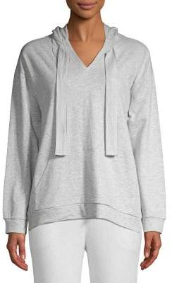 Lord & Taylor Self-Tie Cotton Hoodie