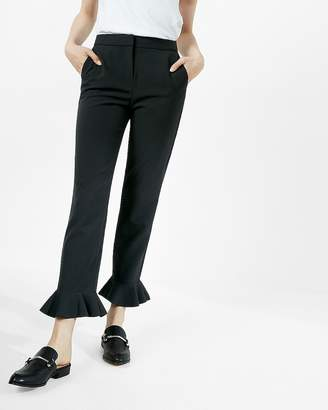Express Cropped Bell Flare Dress Pant