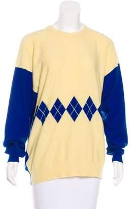 Sonia Rykiel Argyle Cashmere Sweater