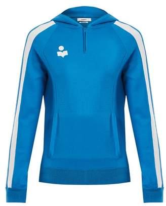 Etoile Isabel Marant Dawson Half Zip Hooded Track Top - Womens - Blue