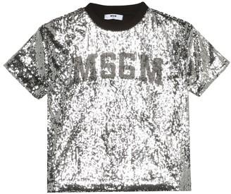 MSGM Kids Sequined T-shirt