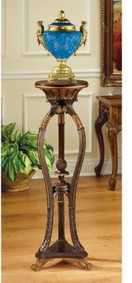 Toscano Design Floral Bouquet Pedestal Table