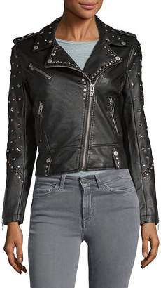 Blank NYC Women's Studded Faux-Leather Jacket