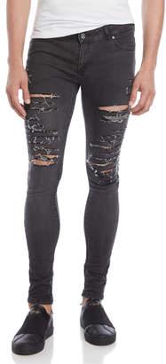 Criminal Damage Distressed Skinny Jeans