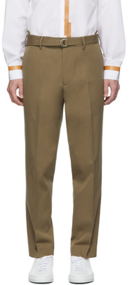 Helmut Lang Brown Cropped Slim Trousers