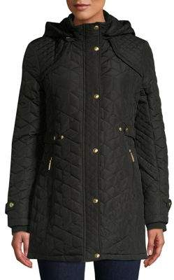 Weatherproof Quilted Front Snap Jacket