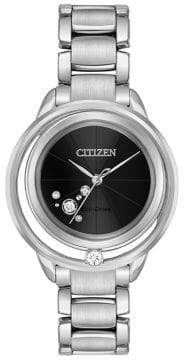 Citizen Eco-Drive Diamond and Stainless Steel Bracelet Watch