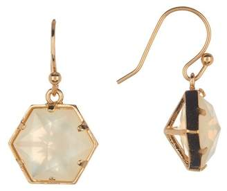 Trina Turk Hexagon Stone Drop Earrings