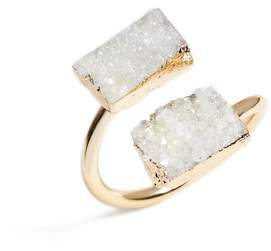 Elise M. Jessa Drusy Quartz Adjustable Ring
