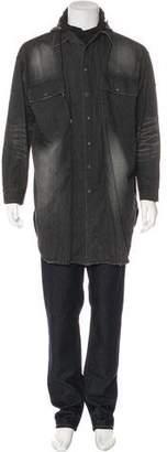 Miharayasuhiro Hooded Oversize Shirt Jacket