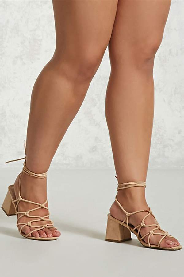Forever 21 Lace-Up Block Heels (Wide)
