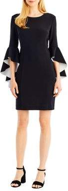 Nicole Miller New York Bell-Sleeve Sheath Dress