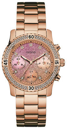 GUESS Confetti Rose-Goldtone Stainless Steel Watch