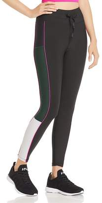 Aqua Piped Color-Block Leggings - 100% Exclusive