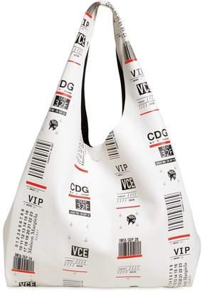 Maison Margiela Tags Printed Leather Tote Bag