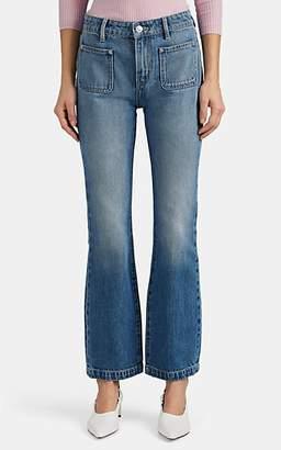Current/Elliott Women's Crop Boot-Cut Jeans - Blue