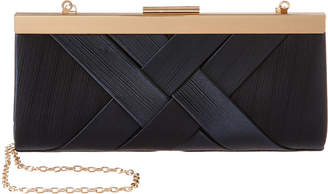 La Regale Satin Criss Cross Clutch