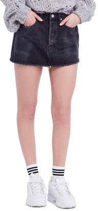 Free People Rugged A-Line Denim Miniskirt