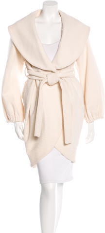 Alice + OliviaAlice + Olivia Virgin Wool Textured Coat