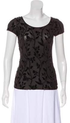 Armani Collezioni Textured Knit Top