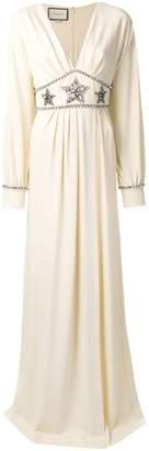 Gucci star embellished maxi dress