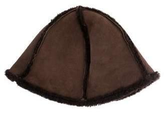 Longchamp Brimmed Shearling Hat