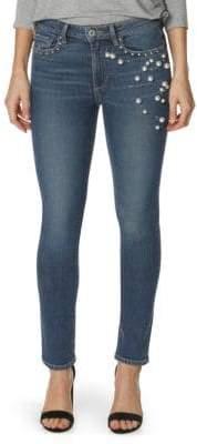 Paige Exclusive Jacqueline Straight Pearl Jeans