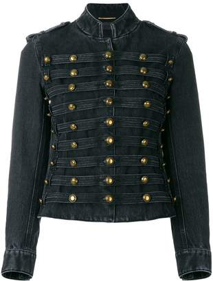 Saint Laurent Officer military denim jacket