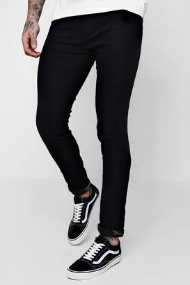 boohoo Skinny Fit Jeans With Camo Turn Ups