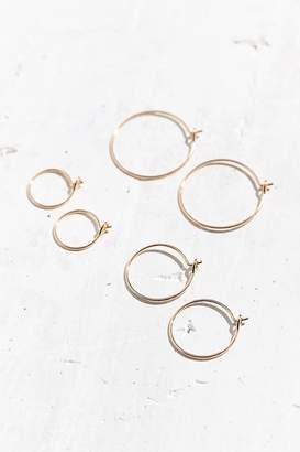 Urban Outfitters Brass Wire Hoop Earring Set